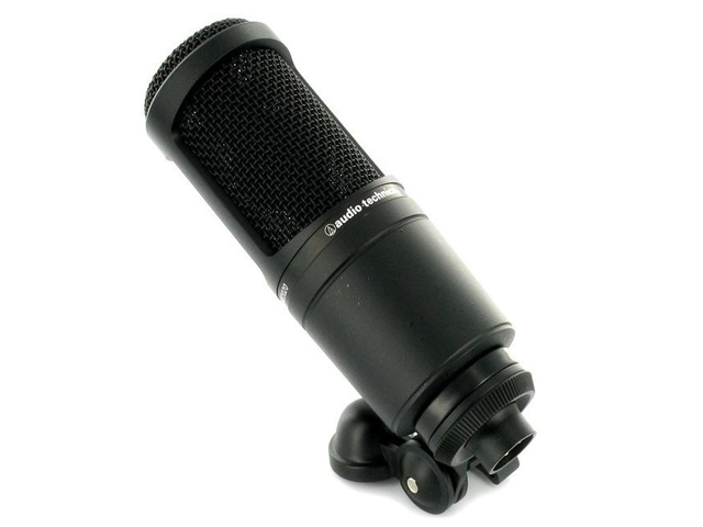 Microfone com fio - Audio Technica AT2020